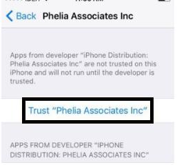 trust phelia associate inc