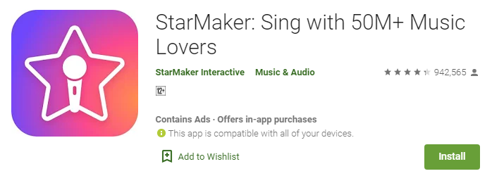 starmaker for android